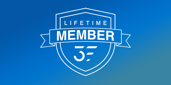 3 FIT Theory - Lifetime Member Icon on Blue Gradient